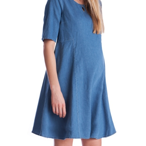 8473f9cad54bb Seraphine Maternity Swing Denim Dress. M_5ab16afa739d4899301928ef